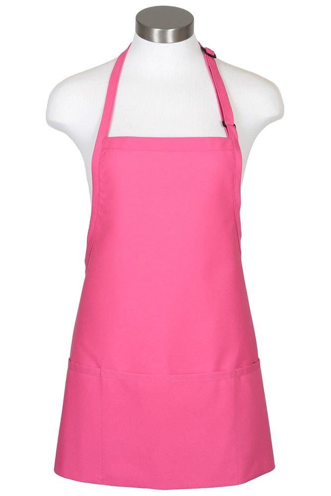 Raspberry Bib Adjustable Apron (3 Pockets)