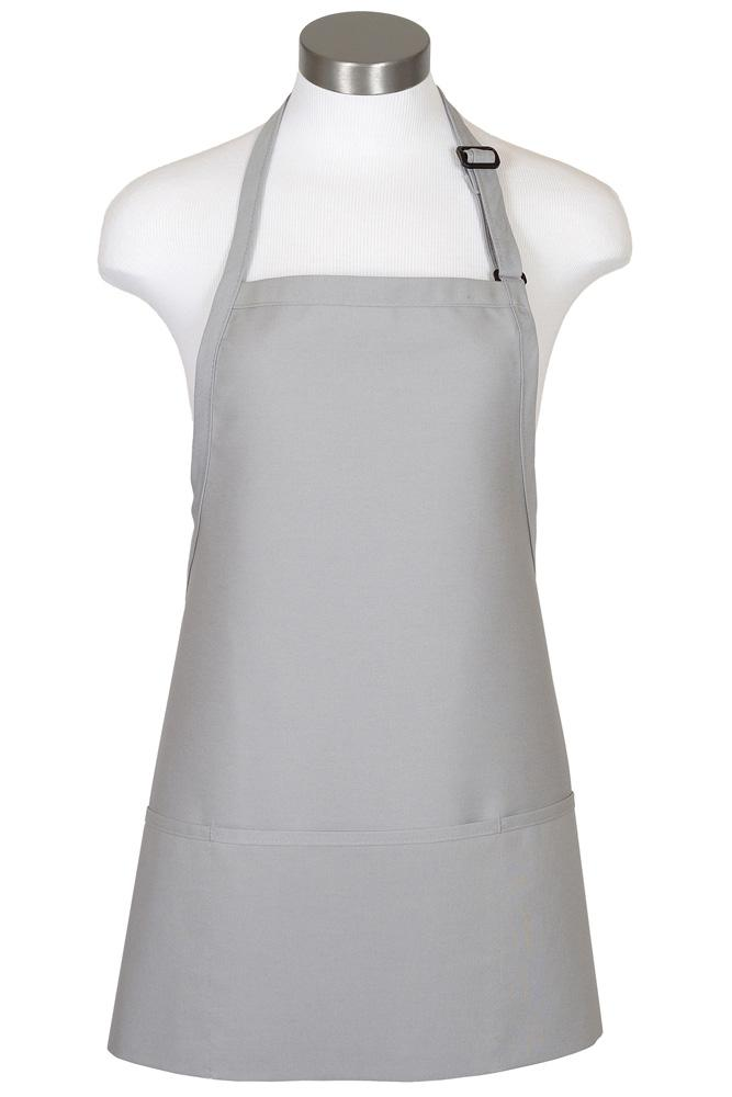 Silver Bib Adjustable Apron (3 Pockets)