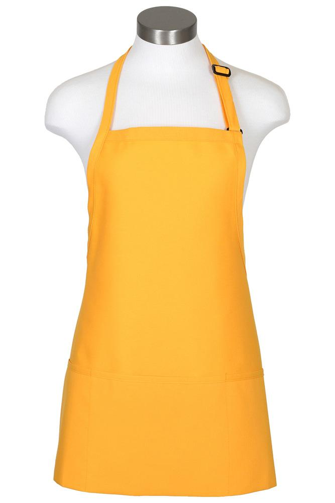 Yellow Bib Adjustable Apron (3 Pockets)