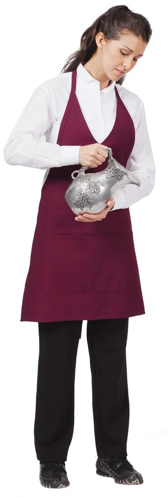 V-Neck Bib Adjustable Apron (2 Patch Pockets)