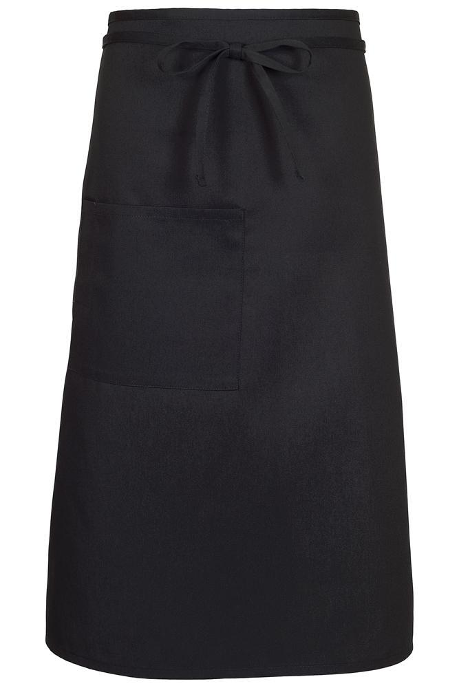 Black Bistro Apron (1 Pocket w/ Pencil Divide)