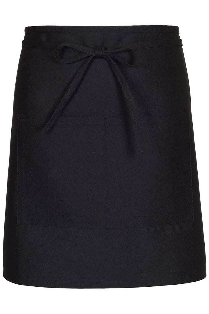 Black Half Bistro Apron (2 Patch Pockets)