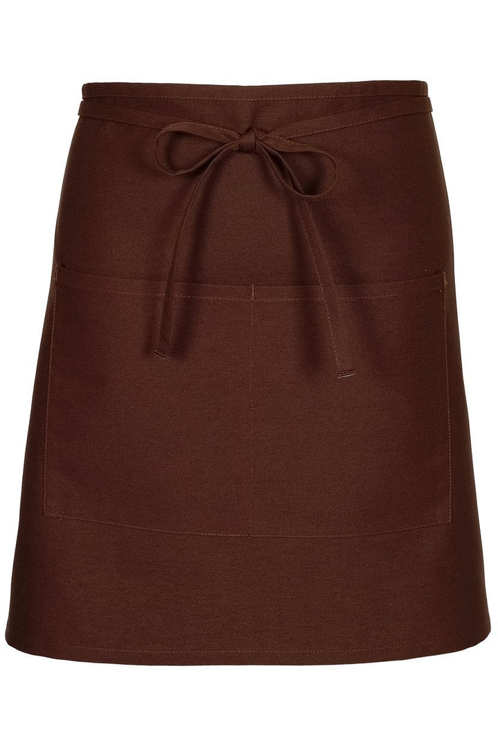 Brown Half Bistro Apron (2 Patch Pockets)