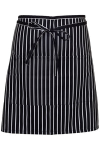 Chalkstripe Half Bistro Apron (2 Patch Pockets)