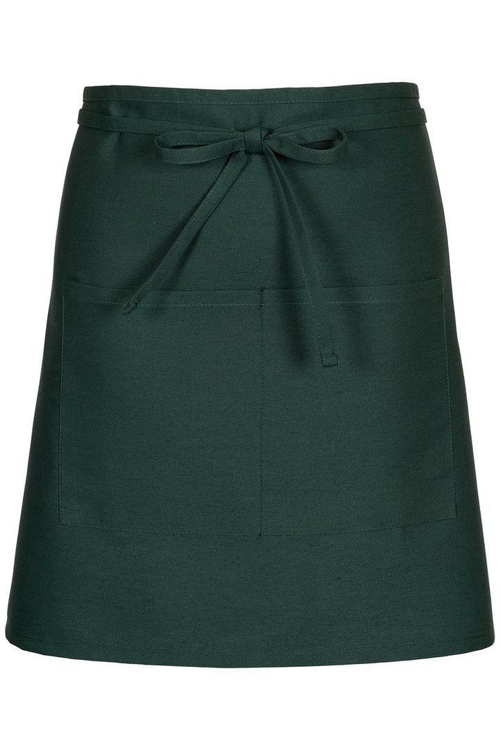 Hunter Green Half Bistro Apron (2 Patch Pockets)