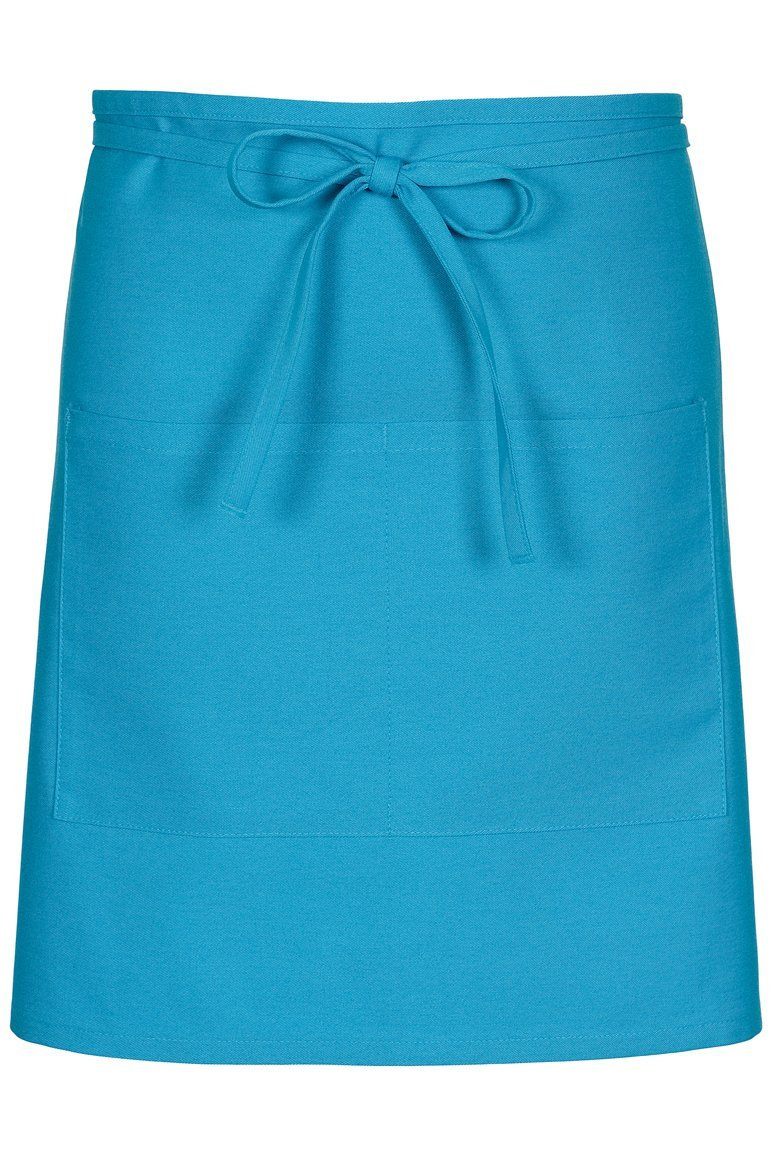 Turquoise Half Bistro Apron (2 Patch Pockets)