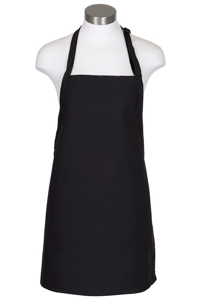 Black Cover Up Bib Adjustable Apron (No Pockets)