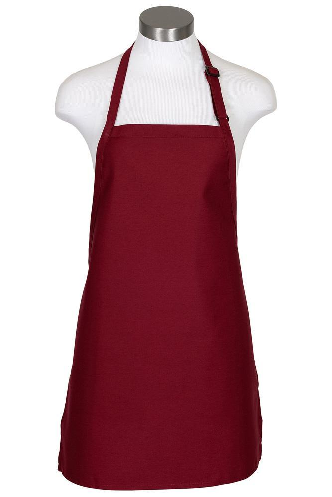 Burgundy Cover Up Bib Adjustable Apron (No Pockets)