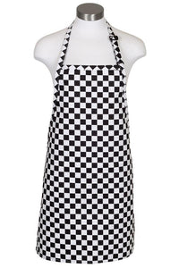 Checkerboard Cover Up Bib Adjustable Apron (No Pockets)