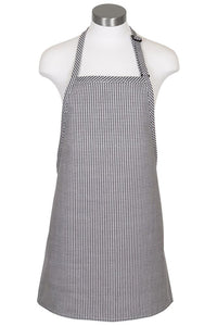 Houndstooth Cover Up Bib Adjustable Apron (No Pockets)