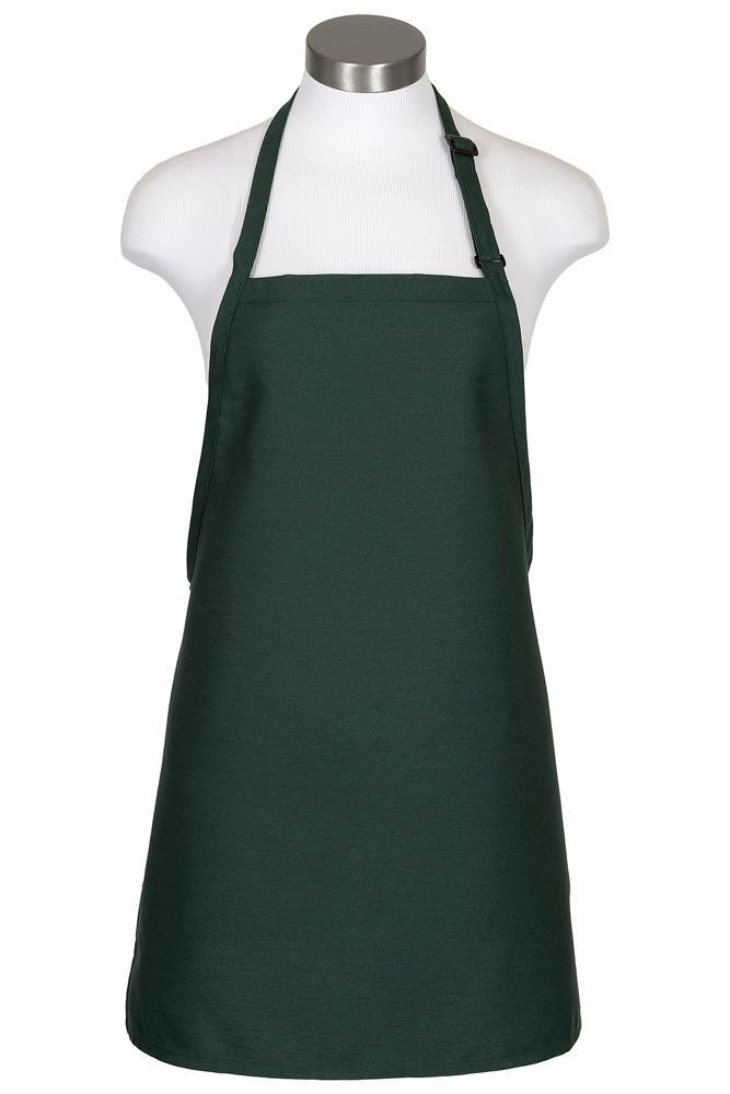 Hunter Green Cover Up Bib Adjustable Apron (No Pockets)