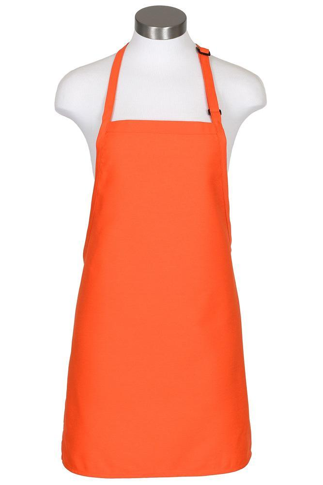 Orange Cover Up Bib Adjustable Apron (No Pockets)