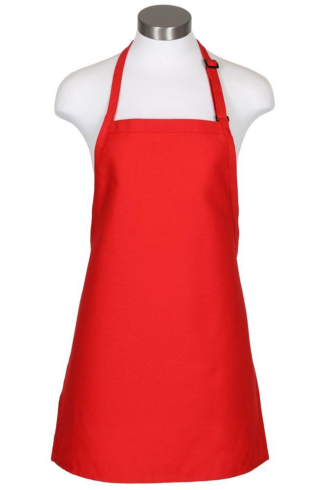 Red Cover Up Bib Adjustable Apron (No Pockets)