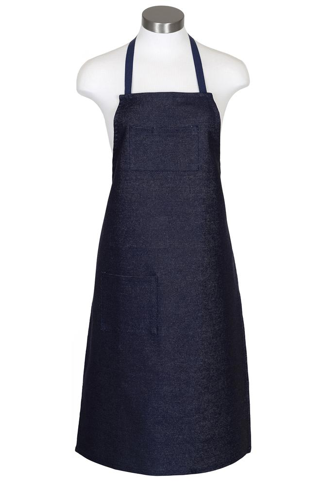 Indigo Denim Bib Apron (2 Pockets)