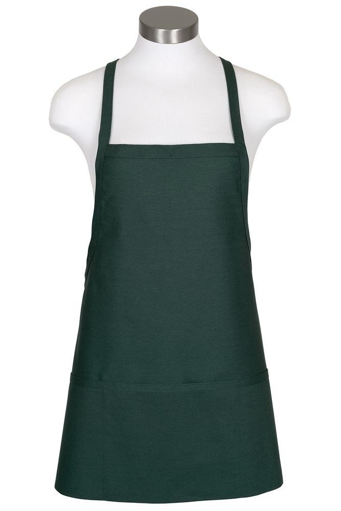 Hunter Green Criss Cross Bib Apron (3 Pockets)