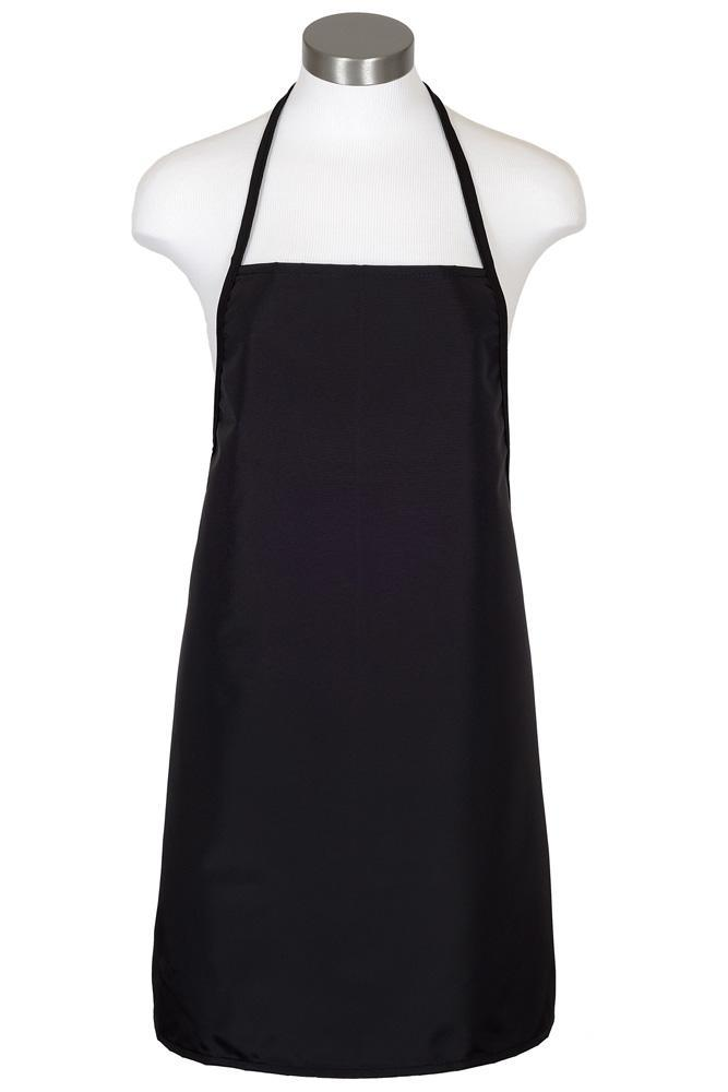 Black Water Repellant Bib Apron (No Pockets)