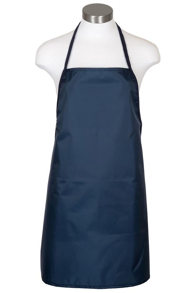 Navy Water Repellant Bib Apron (No Pockets)
