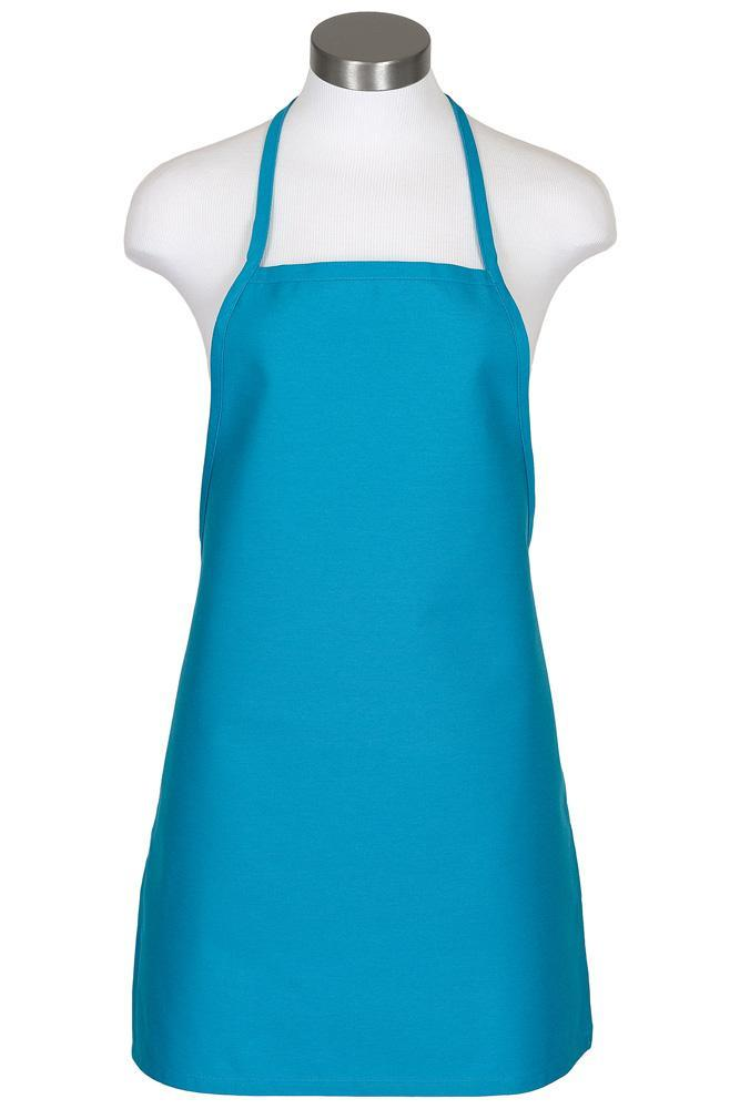 Turquoise Cover Up Bib Apron (No Pockets)