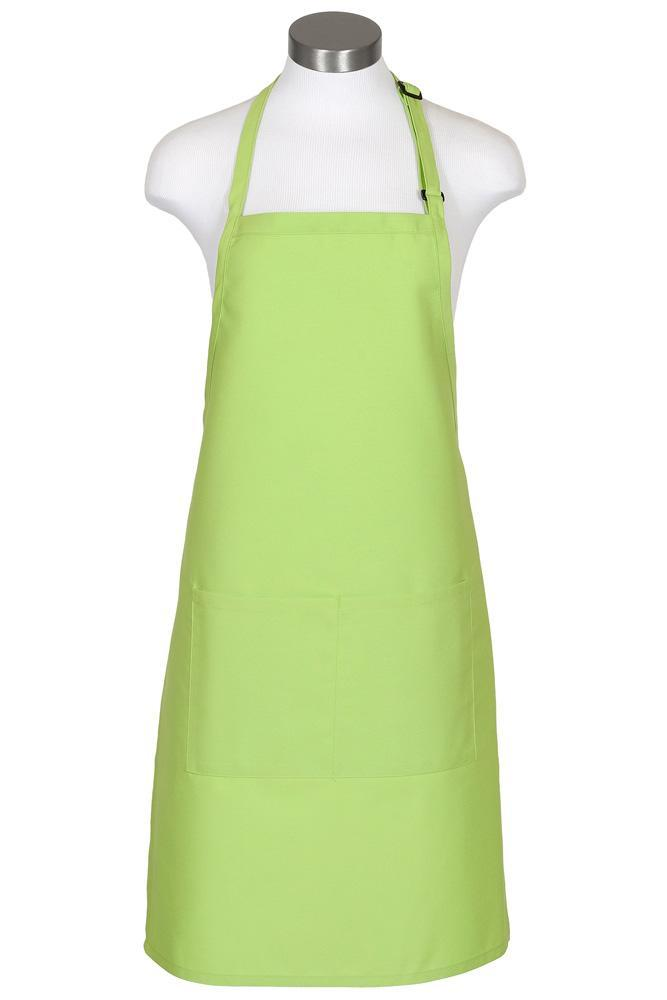 Lime Bib Adjustable Apron (2 Pockets)