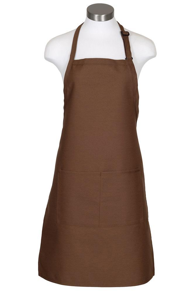 Mocha Bib Adjustable Apron (2 Pockets)