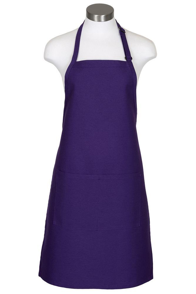 Purple Bib Adjustable Apron (2 Pockets)