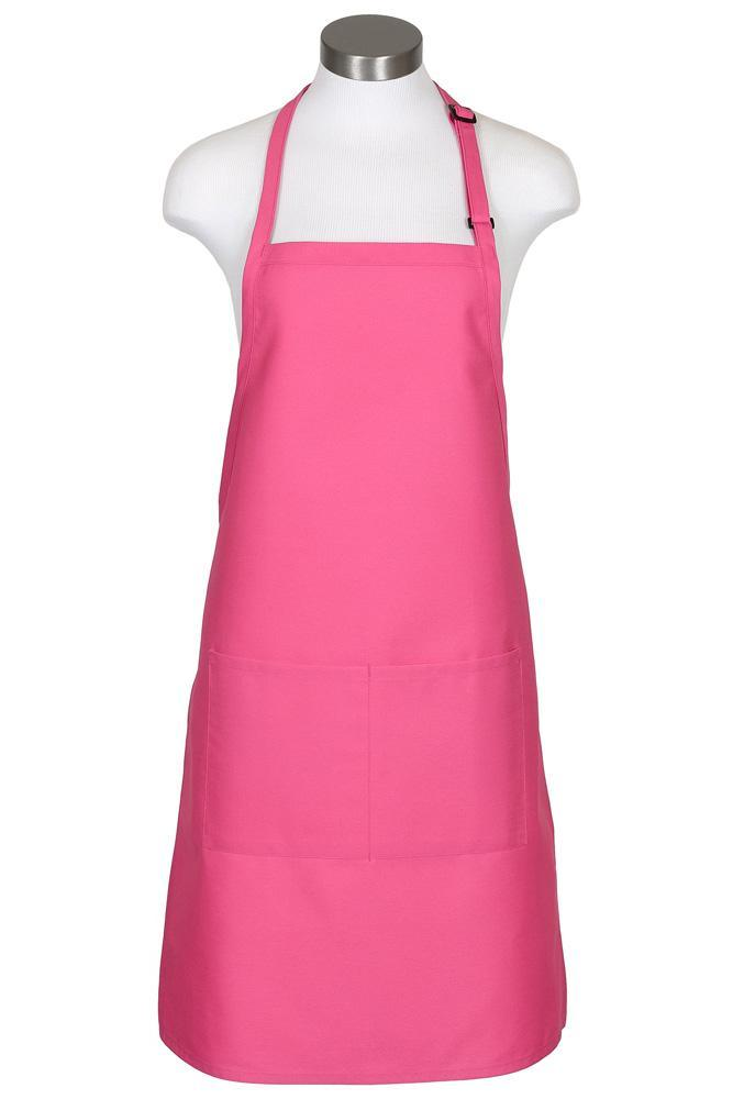 Raspberry Bib Adjustable Apron (2 Pockets)