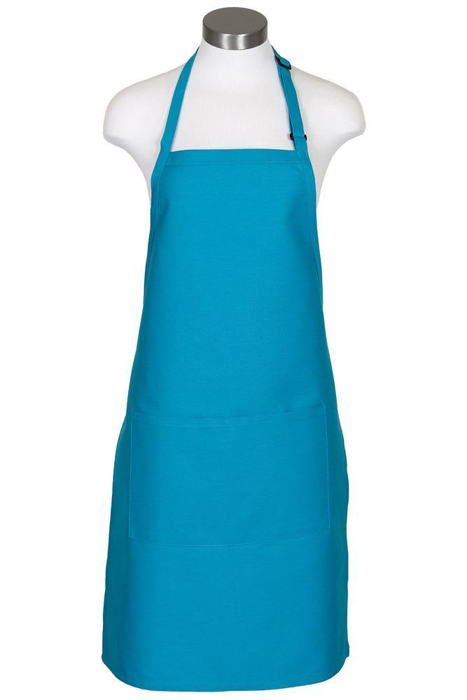 Turquoise Bib Adjustable Apron (2 Pockets)