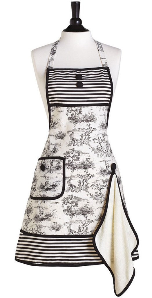 French Toile Betty Bib Apron