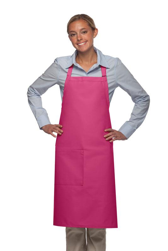 Hot Pink 1 Pocket Adjustable Butcher Apron