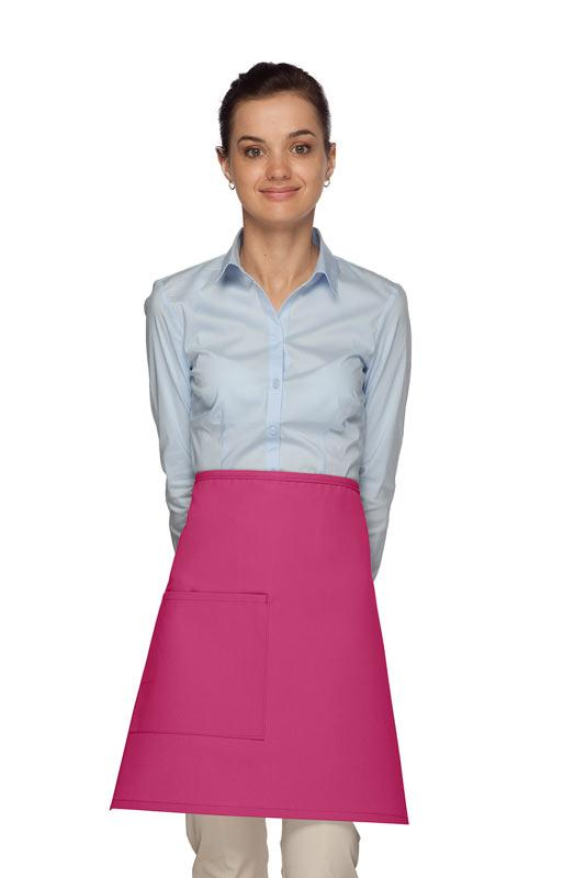 Hot Pink 1 Pocket Half Bistro Apron
