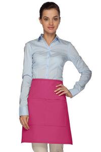 Hot Pink 2 Pocket Half Bistro Apron