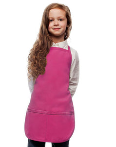 Hot Pink Kids 2 Pocket Bib Apron