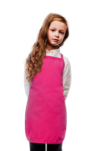 Hot Pink Kids No Pocket Bib Apron