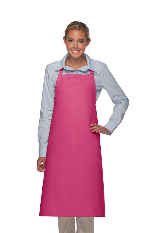 Hot Pink No Pocket Adjustable XL Butcher Apron