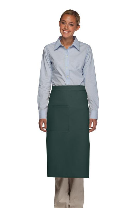 Hunter Green 1 Pocket Full Bistro Apron