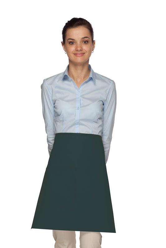 Hunter Green 1 Pocket Half Bistro Apron