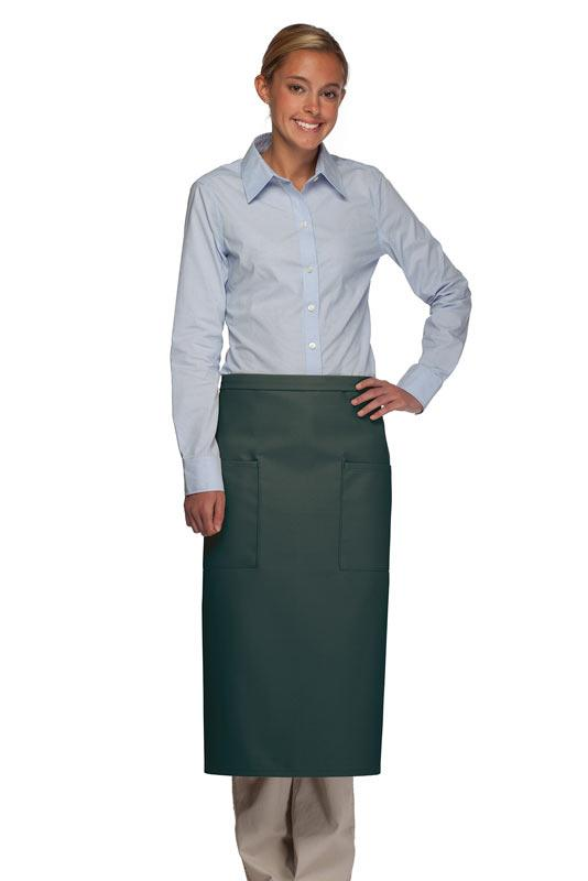 Hunter Green 2 Patch Pocket Full Bistro Apron