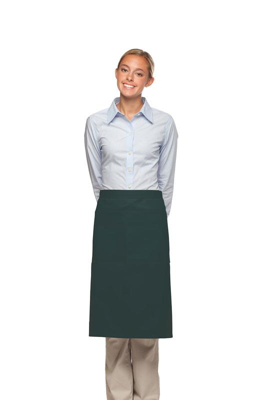 Hunter Green 2 Pocket Three Quarter Bistro Apron