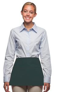 Hunter Green 3-Pocket Waist Apron