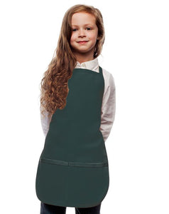 Hunter Green Kids 2 Pocket Bib Apron