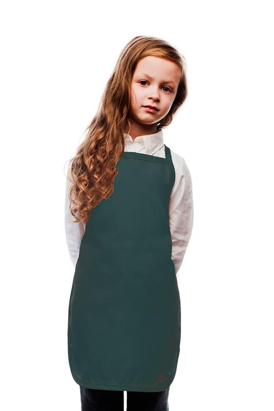 Hunter Green Kids No Pocket Bib Apron