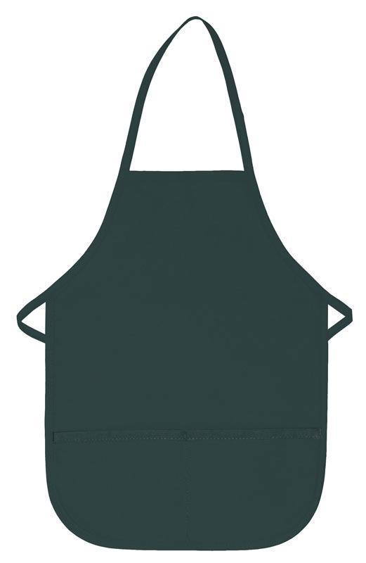 Hunter Green Kid's XL Bib Apron (2 Pockets)