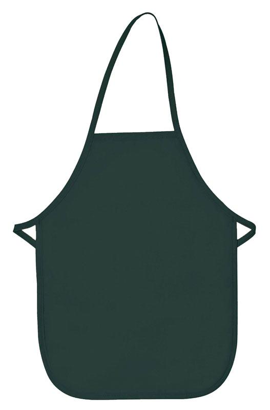 Hunter Green Kid's XL Bib Apron (No Pockets)