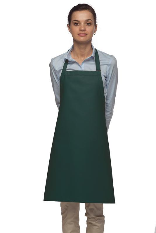 Hunter Green No Pocket Adjustable Bib Apron