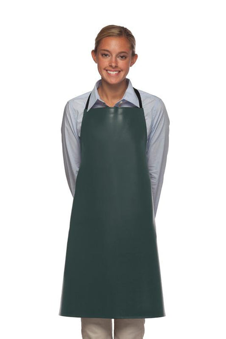 Charcoal No Pocket Adjustable Vinyl Bib Apron