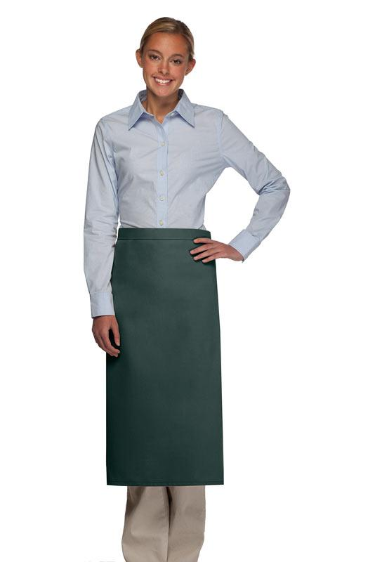 Hunter Green No Pocket Full Bistro Apron