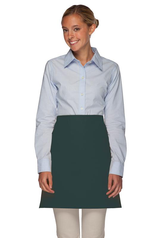Hunter Green No Pocket Half Bistro Apron