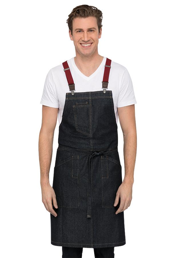 Berkeley Indigo Denim Bib Apron