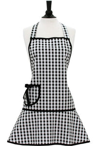 Black & White Gingham Carmen Apron