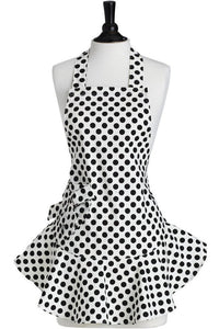 Cream & Black Polka Dot Josephine Apron